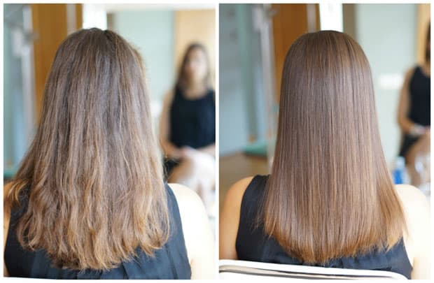 hair botox after and before